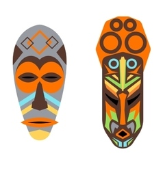 African mask set vector image vector image
