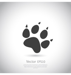 Cat paw print icon vector image vector image