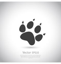 Cat paw print icon vector