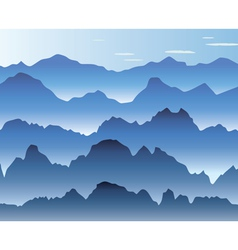 mist in the mountains vector image vector image