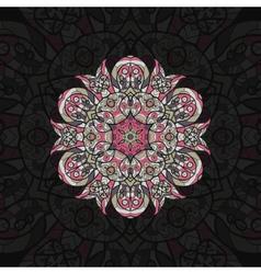 Pink mandala Template for menu greeting card vector image vector image