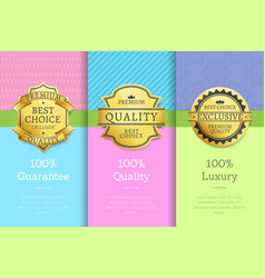 100 guarantee quality luxury exclusive premium vector