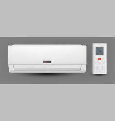 Air conditioner system with remote control vector