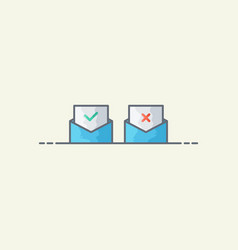 Approved and rejected icon vector