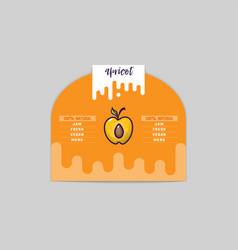 Apricot sticker and eco products apricot web vector