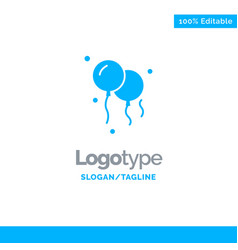 balloons decoration blue business logo template vector image