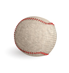 baseball abstract ball vector image