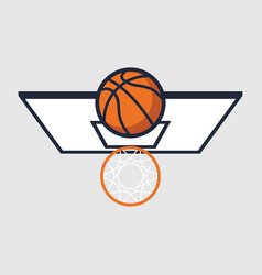 basketball with hoop vector image
