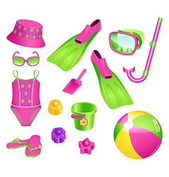 beach accessories for girl vector image