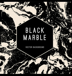 black marble background with banner vector image