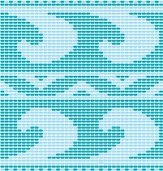 blue crochet pattern vector image