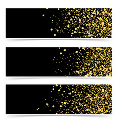 bright gold glitter luxurious abstract modern vector image