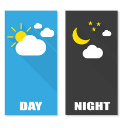 brochures image of the day and night with shadow vector image