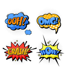 Bubble speech for onomatopoeia and comic book vector