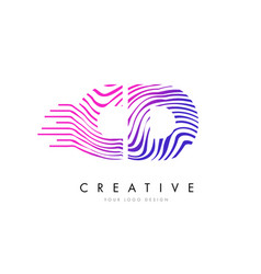 Cd c d zebra lines letter logo design with vector