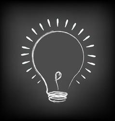 Chalk Light bulb vector image