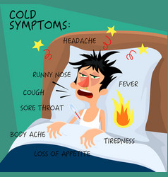 cold symptoms - in flat style vector image