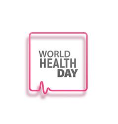 Concept logo world health day vector