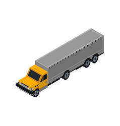 container truck isometric 3d element vector image