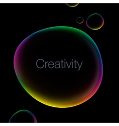 Creativity abstract background with speech bubble vector image