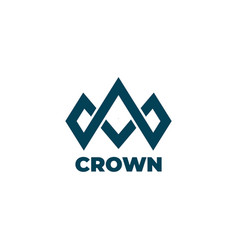 crown logo design symbol template vector image