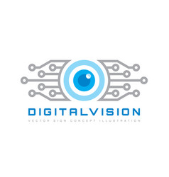 Digital vision - logo template concept vector