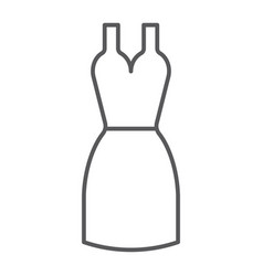dress thin line icon clothing and female gown vector image