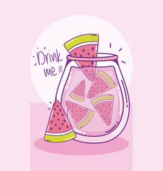 Drink me juice cute cartoons vector