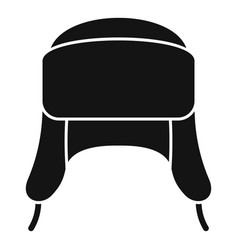 Ear flap winter hat icon simple style vector