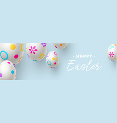 easter horizontal banner or poster vector image