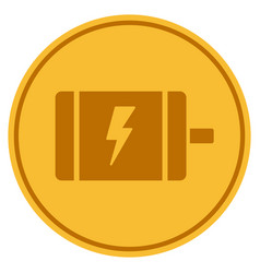 electric motor gold coin vector image