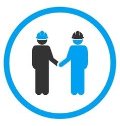 Engineer Handshake Icon vector