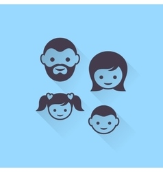 family members vector image