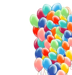 Festive multicolored balloons background vector