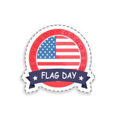 flag day badge with headline vector image