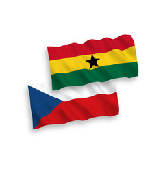 Flags czech republic and ghana on a white vector