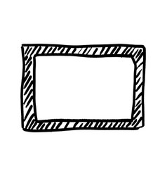 frame hand drawn in black vector image