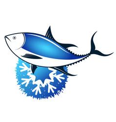 fresh frozen tuna vector image