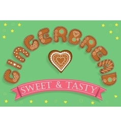 Gingerbread Sweet and Tasty Sweet font vector