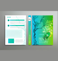 Green template cover vector