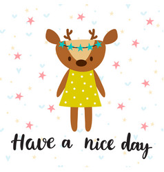 have a nice day inspirational quote hand drawn vector image