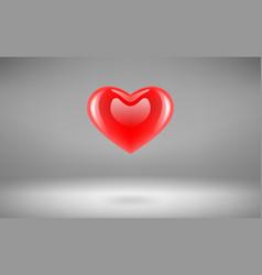 Heart glossy vector