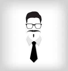 Hipster man with black tie vector image