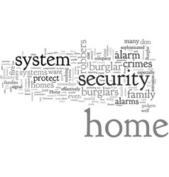 Home burglar alarm security system vector