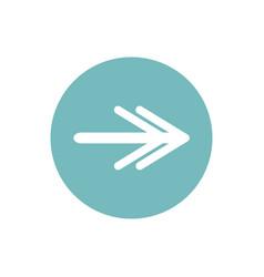 Icon double headed arrow in color circle vector