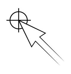 icon pointer target cursor arrow vector image