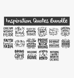 Inspiration quotes svg cut files designs bundle vector