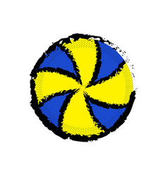 Isolated volleyball ball icon vector