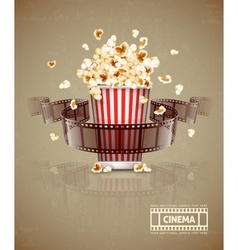 Jumping popcorn and movie vector image