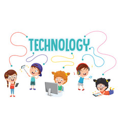 Kids technology vector